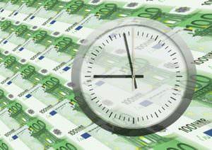 Euroscheine Uhr