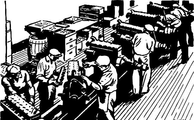 Fabrikarbeiter um 1900